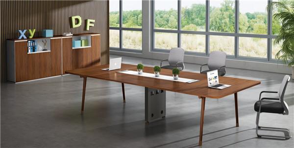实木板式会议办公桌
