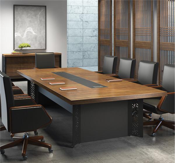 钢架板式会议桌