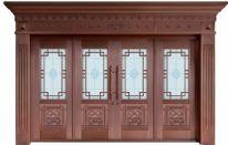 玻璃門系列銅門