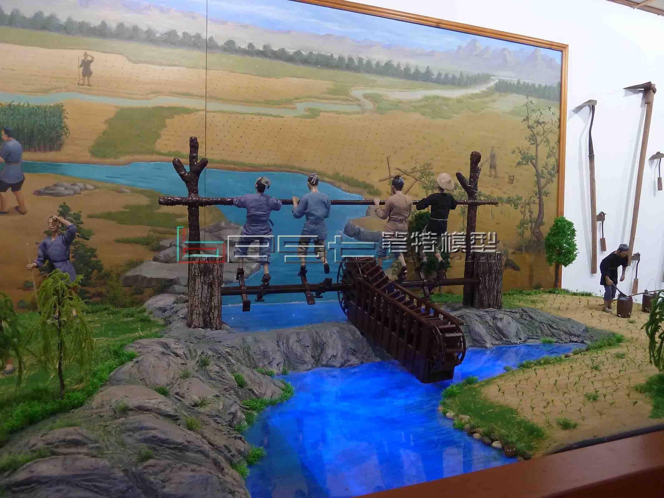 山西水塔集團景觀人物動態模型定制