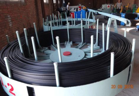 预应力涂塑钢丝生产线