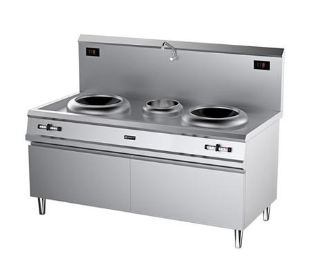 廚房設備-電磁雙頭雙尾小炒爐