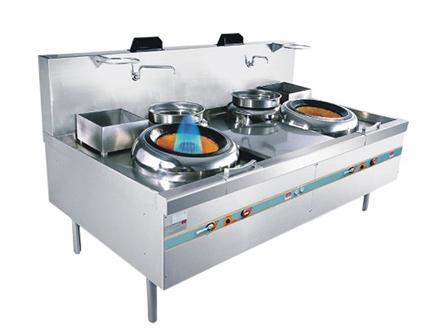 廚房設備-燃氣雙頭雙尾小炒爐